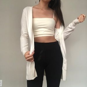 Long White Cardigan